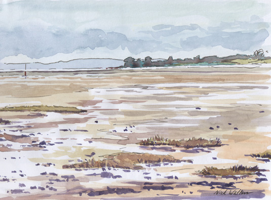 'Sketching across the Exe Estuary'