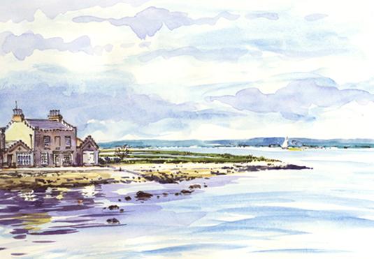 Brown Sea Island Sketch