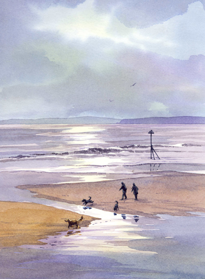 Sketches from Exmouth Beach