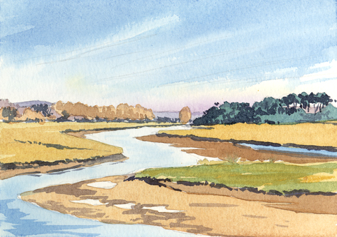 'Frosty Day in the Otter Estuary'