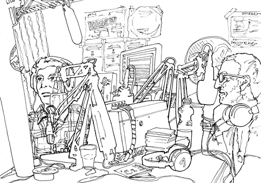 'Sketching the Musicians at Phonic FM'