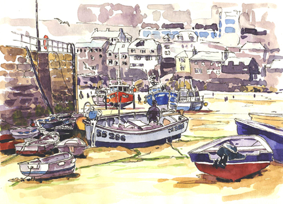 'Sketching in St Ives'