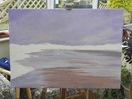 Progress stage of oil painting ~ Reflections