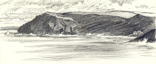'Evening at Crackington Haven'