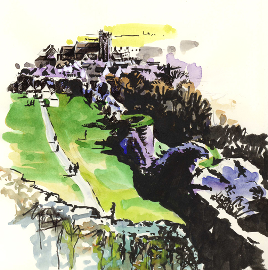 'From Corfe Castle'