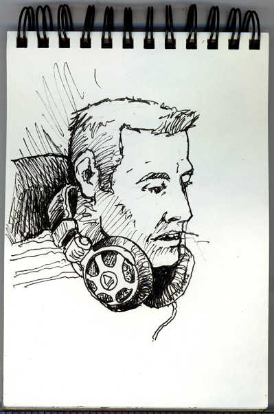 Pen sketch of DJ Monty