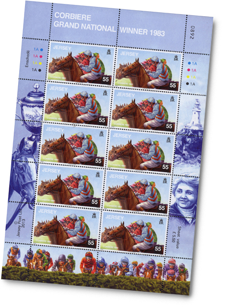 Jersey's ~ Corbiere Stamp Sheet of ten
