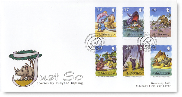 Alderney's 'Just So' postage stamps on a  First Day Cover