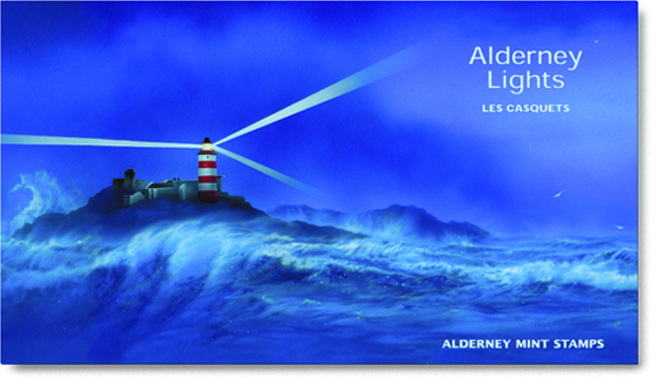 Alderney's Les Casquets Lighthouse Stamps Cover