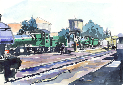 'Outside the Engine Shed'