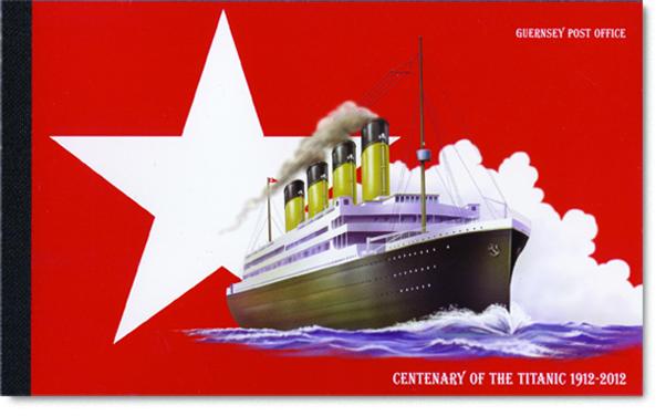 Alderney's Stamps ~ Titanic Prestige Booklet Cover