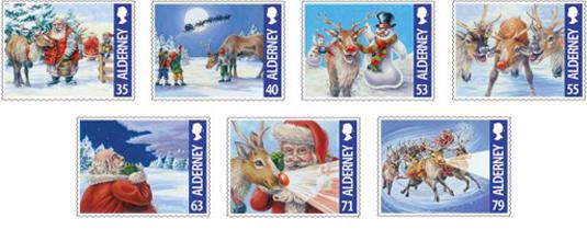 Alderney's Rudolf the Reindeer Stamps 2013