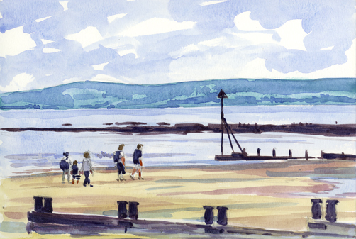 'T-rex on Exmouth Beach'