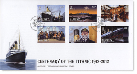 Alderney's Stamps ~ Titanic First Day Cover