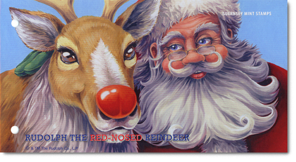 Alderney's Rudolf the Red-nosed Reindeer Presentation Pack Cover