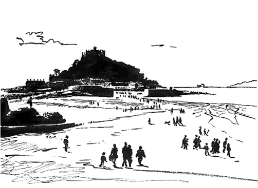 'Funneling towards St Michael's Mount'