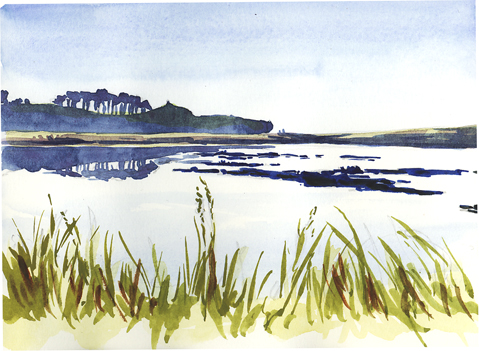 Sketching across the Otter Estuary