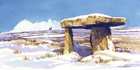 Watercolour painting of Lanyon Quoit