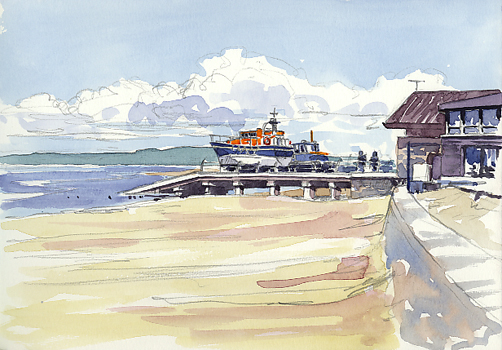 More sketches from Exmouth Beach