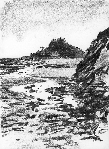 'Sketching around Marazion'