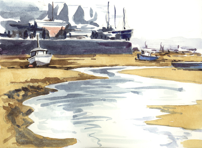 'Low Tide at the Point' (Exmouth)