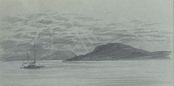 Pencil sketch of Vatersay Bay