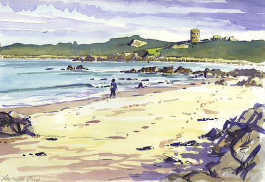 'Sketching on Guernsey'