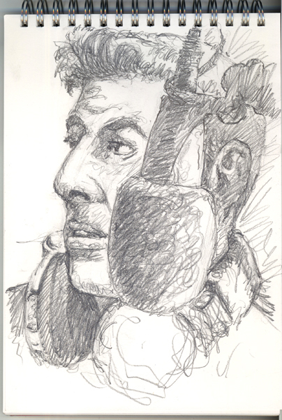 Pencil sketch of DJ Mark