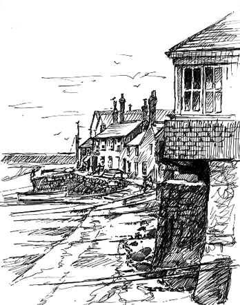 'Sketching in Mousehole'