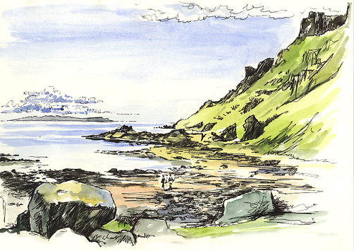 'Trip to the Isle of Mull with a sketchbook'