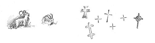Crosses in the 'Nun's Cave