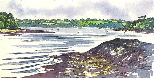 'The Pandora Inn and Loe Beach'