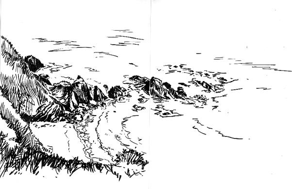 Pen sketch of Penare Point