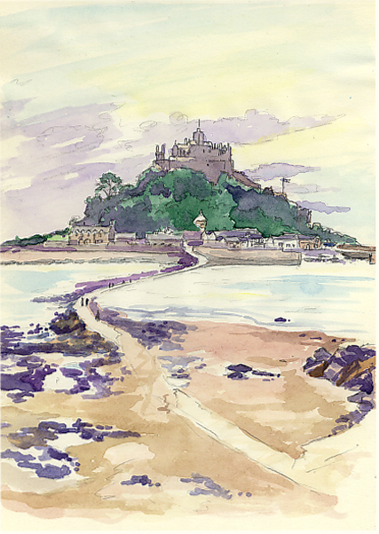Sketches of and around St Michael's Mount