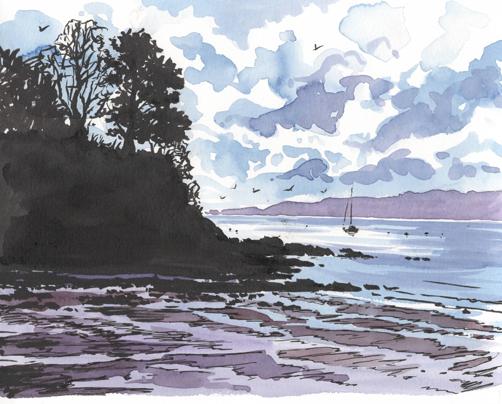 'Durgan Beach'