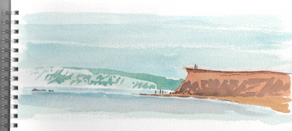 Watercolour sketch of Hanover Point