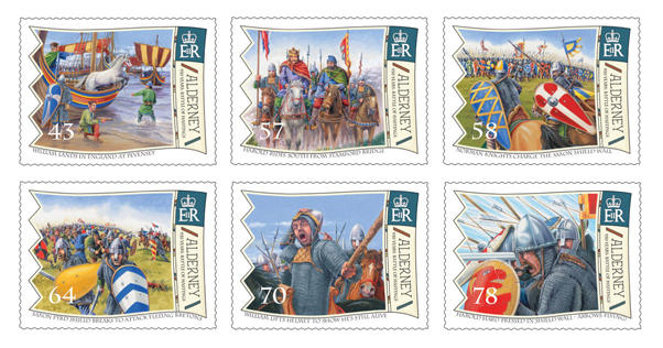Alderney Battle of Hastings Stamps