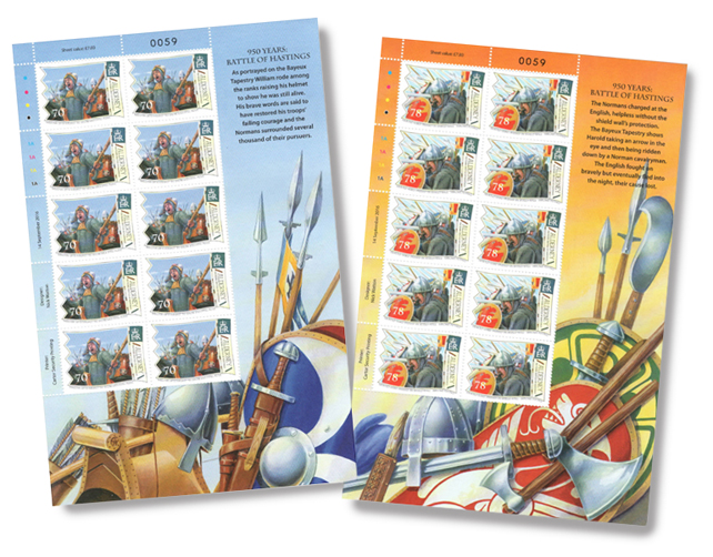 Alderney Hastings Stamp Sheets of 10