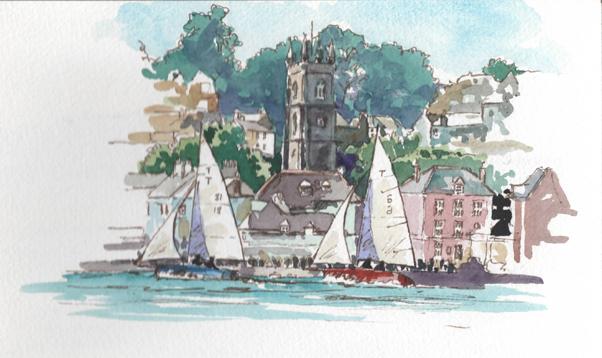 'Troy boats at Fowey Regatta'