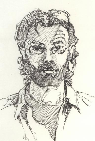 'Quick pen self-portrait'