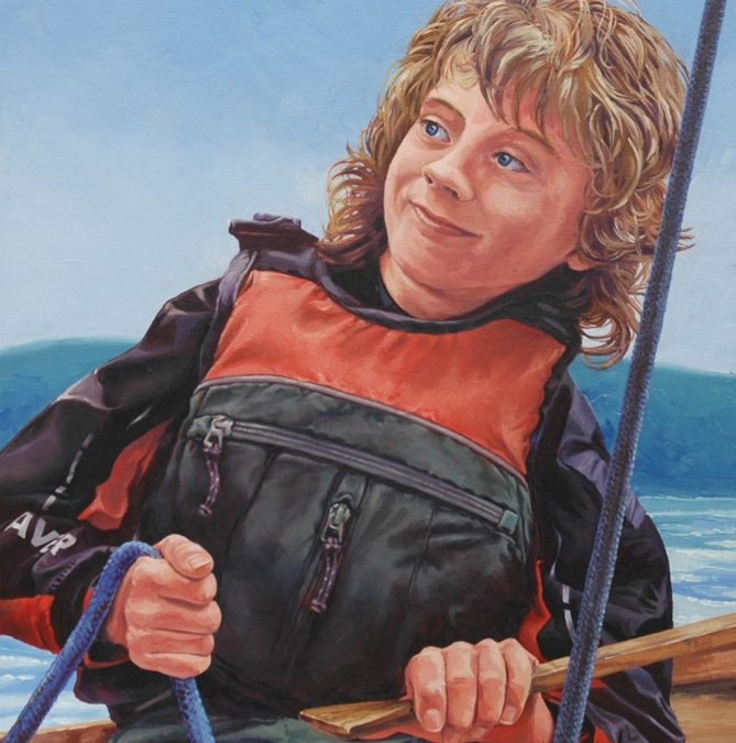 'Oil Painting – First Mate at the Helm'