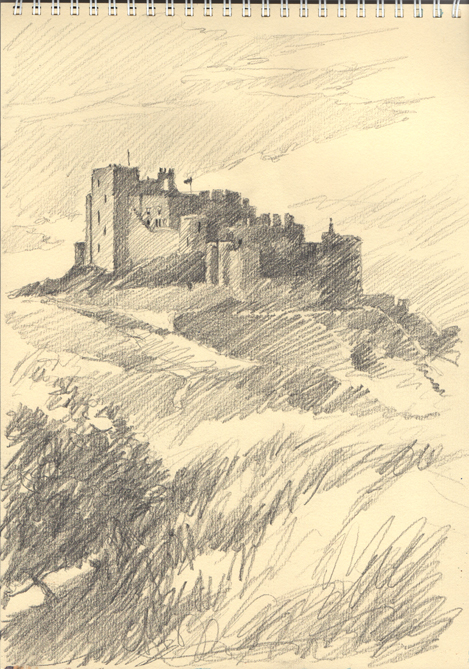 'Bamburgh Castle Pencil'