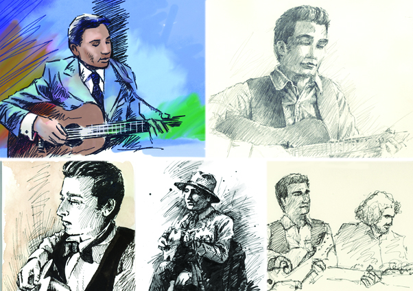 'Drawing musician Alex Kumar'