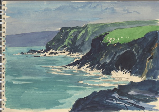 'Storm Callum at Port Gaverne'