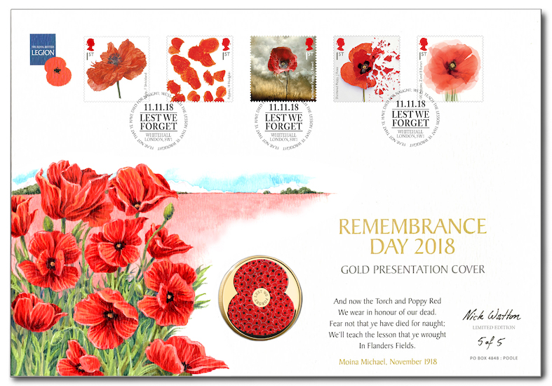 'Remembrance 2018 First Day Cover'