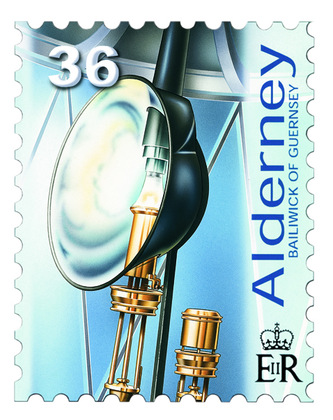 Casquets Lighthouse Argand Lamp postage stamp