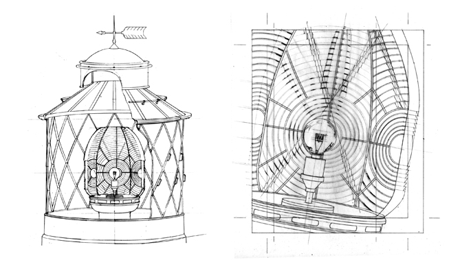 Casquets Lighthouse drawings