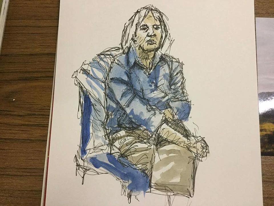 'Scribbly' Pen, Portrait Sketch