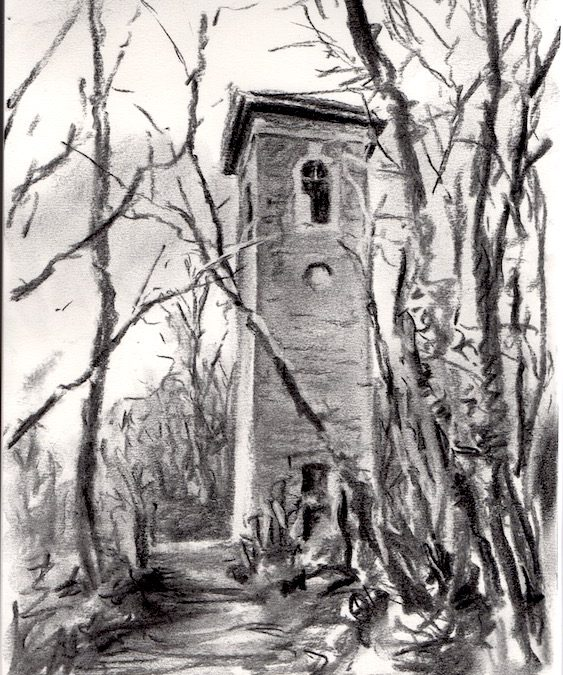 'Brown's Folly Tower – a walk and a sketch'