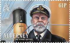 Postage stamp with an illustration of Captain Smith
